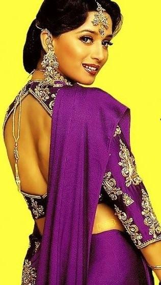 Madhuri Dixit's Saree in Hum Aapke Hain Koun - Bollywood Sarees