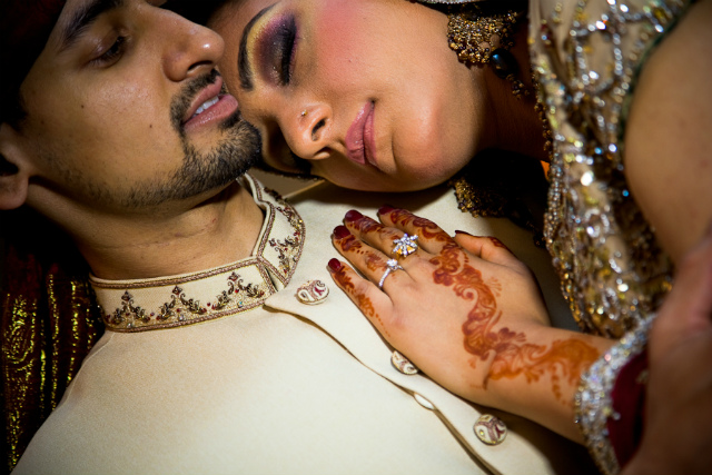 Closeup couples wedding shot by Monir Ali