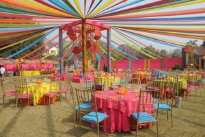 Colourful Wedding Decoration | Unique Wedding Venue Decoration