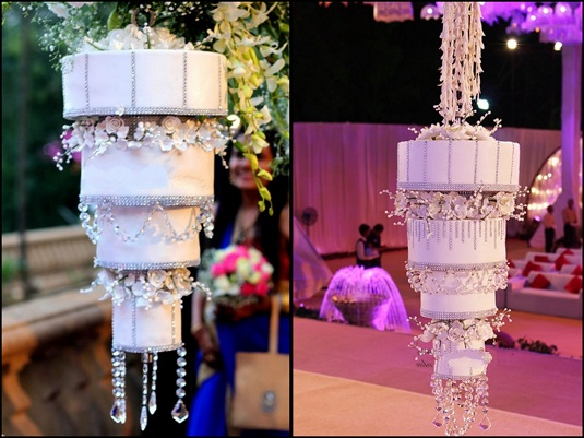 White Chandelier Cake | The New Trend of Indian Wedding Cakes