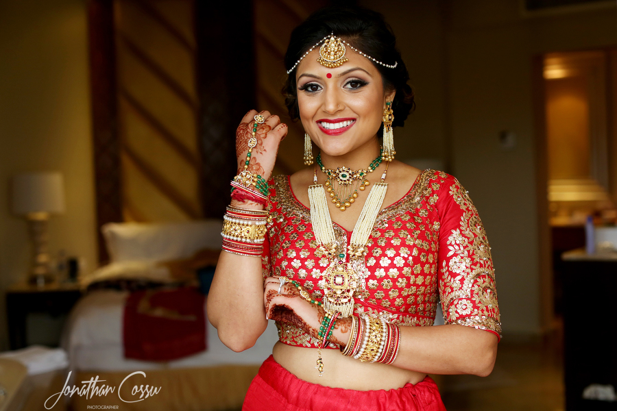 Such a Gorgeous Bride in a Red Indian Lehenga and Bridal Jewellery