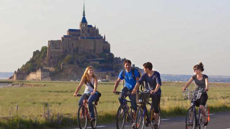 mont saint michel cycling france ferries routes