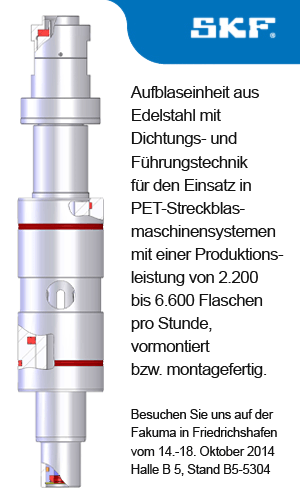 SKF Dichtungen - Fakuma 2014 - Streckblaskolben