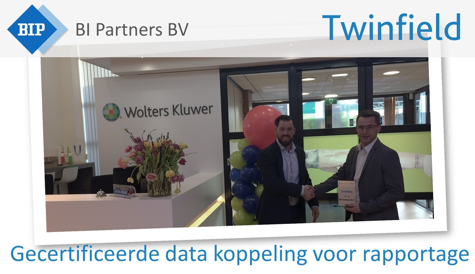 BI Partners is gecertificeerd Twinfield partner met data koppeling