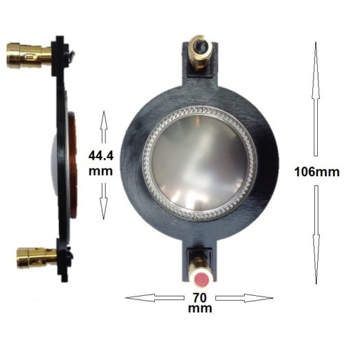 1.75 Compression Driver 8Ω Replacement Diaphragm 44.4mm Voice Coil