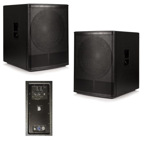 """2x Beta 18"""" Active Powered Subwoofer 1000W RMS"""