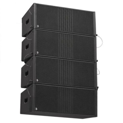 "BishopSound Delta Dual 8"" Passive Line Array 4 Box Set Set Including Flight Case"