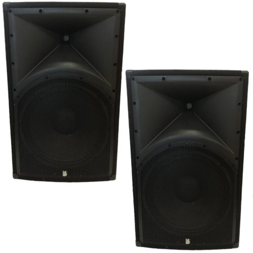 """2 x Alpha 15"""" Passive Speakers Both Fitted With Professional Drivers and Titanium 1.75 Compression Drivers"""