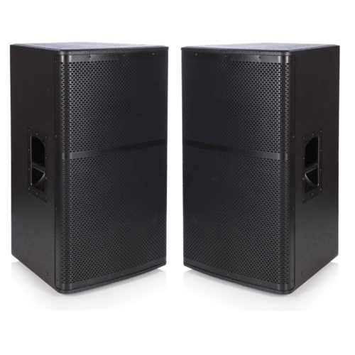 "2 x Beta 15"" Trapezoidal 600W RMS Full Range Speaker (B-Grade) - PAIR"