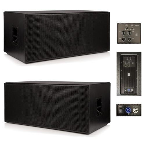 "2 x Beta Twin 18"" Active Powered Subwoofer 2400w RMS System"