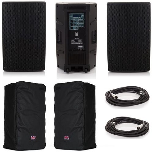 """2x Orion 15"""" Active Bluetooth Speaker Package Deal B"""