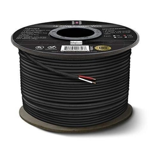 Speaker Cable 2 Core 1.5mm 150 Strand 7.0mm Round Flexible PVC PA Speaker Cable - 50 Metre Roll