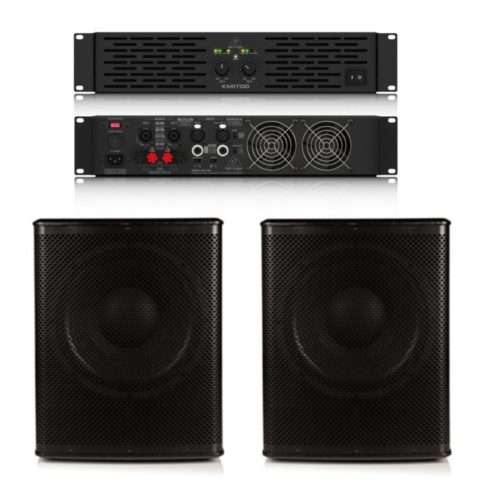 Sub Bundle 1 - 2 x BB115S Subwoofers and Amplifier 1200w RMS