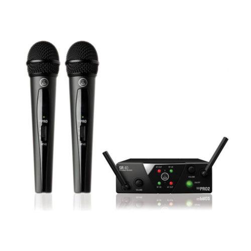 Wireless AKG WMS40 Mini Dual Vocal Microphone System