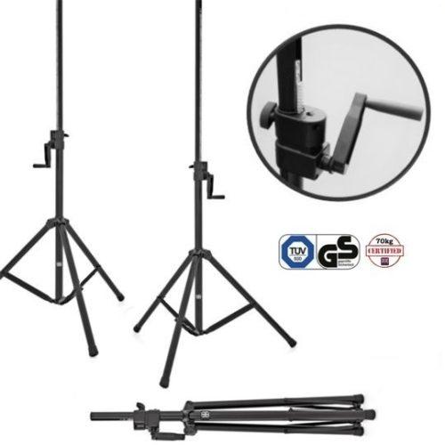 Wind Up Speaker Stand - 70kg Load, 35mm Worm Screw Drive