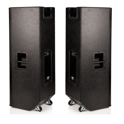 "2 X Twin 15"" Active Speakers (B-GRADE) - 2000W RMS Speaker System"