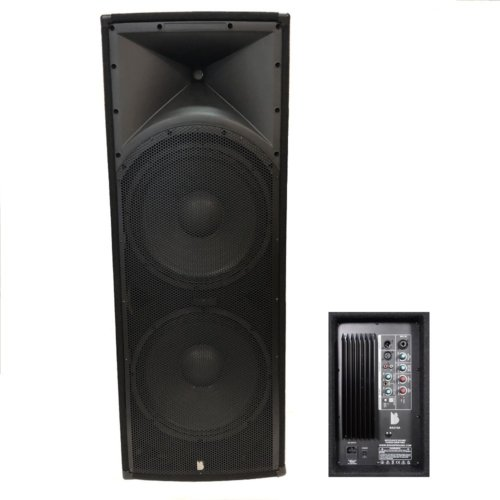 "Alpha Dual 15"" Active PA Speaker 2000w Peak 500w RMS Speaker With Bluetooth"