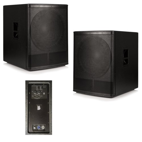 "2x Beta 18"" Active Powered Subwoofer 1000W RMS - Mark 2 Version"