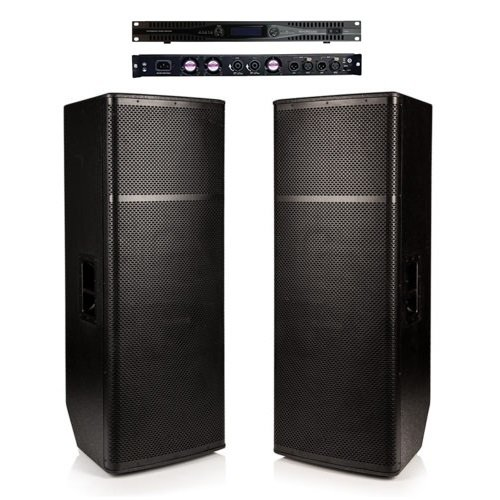 2x Beta Twin 15″ Passive - 2000w RMS Speaker System with Amplifier