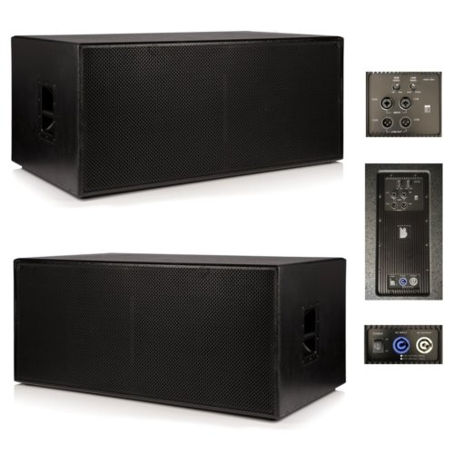"2 x Beta Twin 18"" Active Powered Subwoofer 3000w RMS System Mk II"