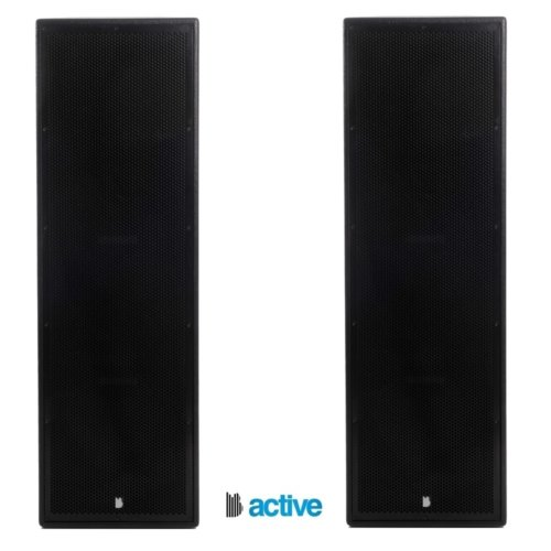 "2 x Triple 12"" Full range Active Trapezoidal 3x12"" 1000w RMS Speaker With Digital Signal Processing and Bluetooth"
