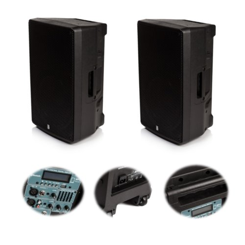 "2x Orion 12"" Active Bluetooth Speakers - The Pair Deliver 800w RMS"