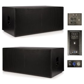 """2 x Beta Twin 18"""" Active Powered Subwoofer 3000w RMS System Mk II"""