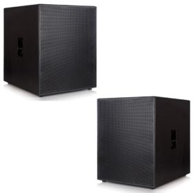 2x Delta 21″ Plywood Passive Sub Woofers - 3000w RMS System