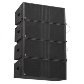 "BishopSound Delta Dual 8"" Passive Line Array 4 Box Set Set Including Flight Case"