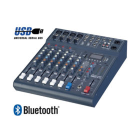 Studiomaster Club XS8 – 8 Input Mixer with USB/SD Player/Receiver With Bluetooth