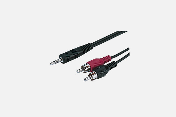 3.5mm Stereo Plug - 2 x RCA plug  by Monacor