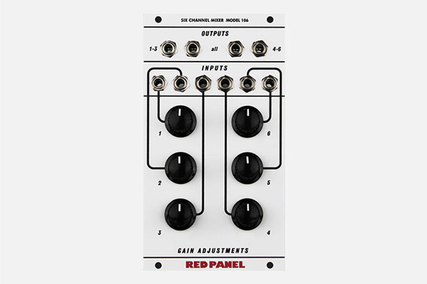Model 106 6-Channel Mixer by Red Panel