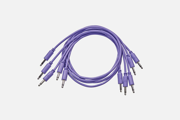 Patch Cable 5-pack 25cm Violet by Black Market Modular