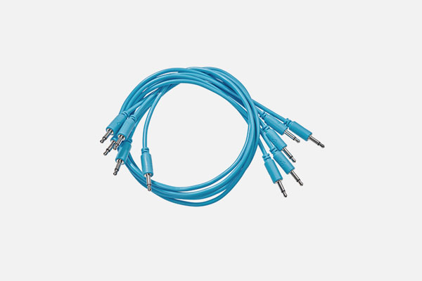 Patch Cable 5-pack 9cm Blue by Black Market Modular
