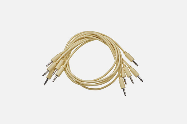 Patch Cable 5-pack 9cm Yellow by Black Market Modular
