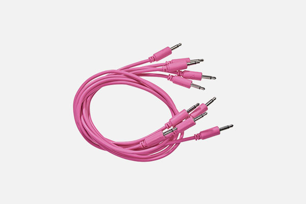 Patch Cable 5-pack 150cm Pink by Black Market Modular