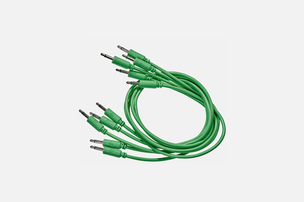 Patch Cable 5-pack 75cm Green by Black Market Modular
