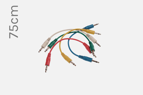 Analogue System Patch Cables 75cm (5-pack)