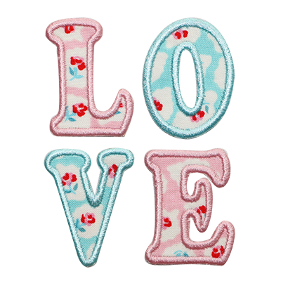 PATCHES Aqua & Pink Love Patch