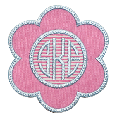 PATCHES Pink Flower Monogram