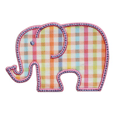 PATCHES Spring Plaid Elephant Patch