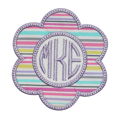 PATCHES Purple Flower Monogram