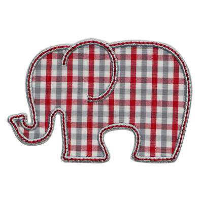 PATCHES Autumn Plaid Elephant Patch