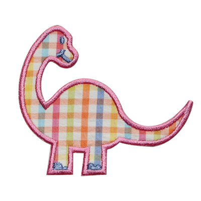 PATCHES Spring Plaid Dino Patch