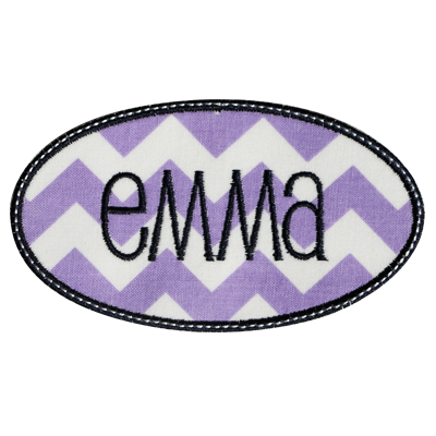 PATCHES Lavender Zigzag Name Patch