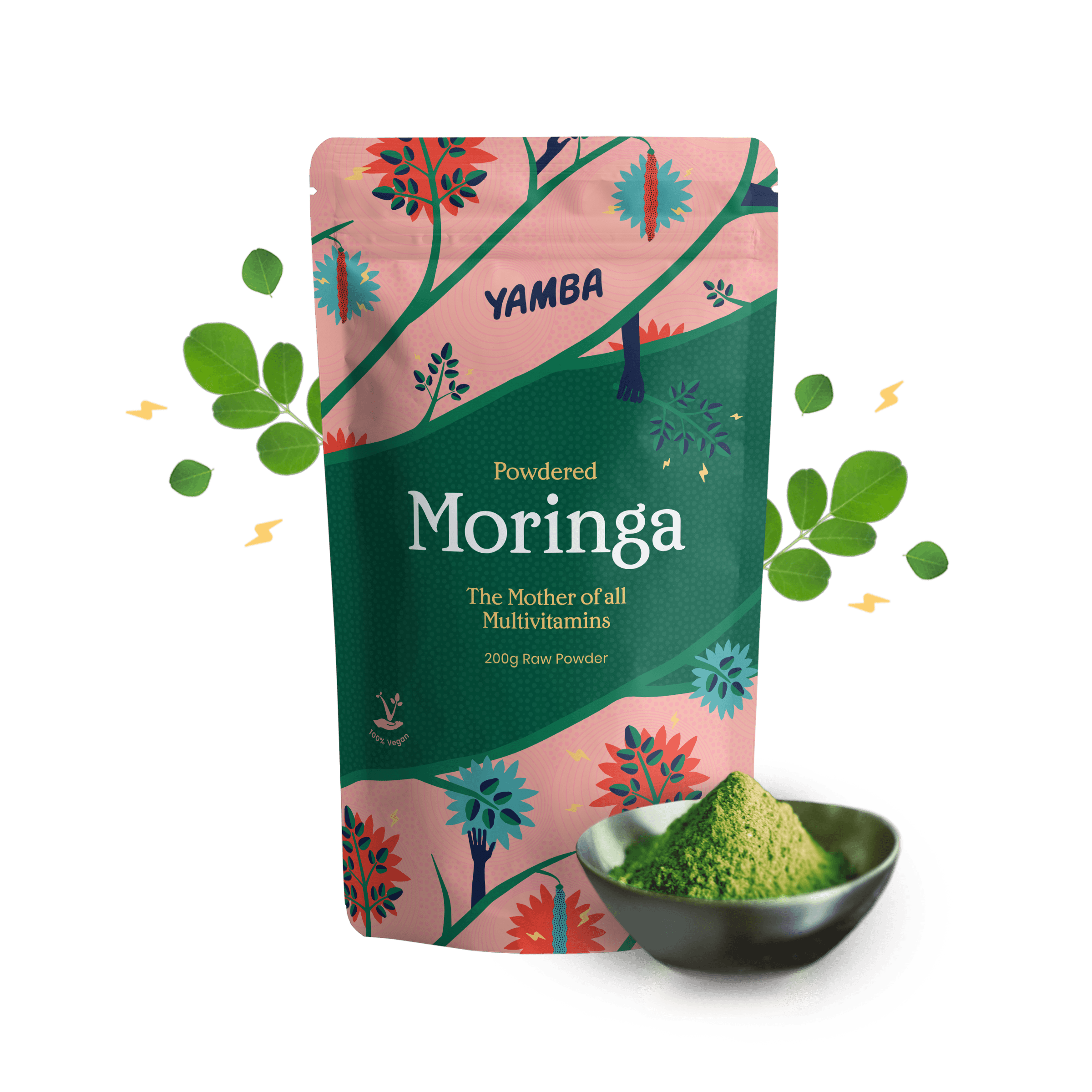 Moringa Powder (200g) packaging