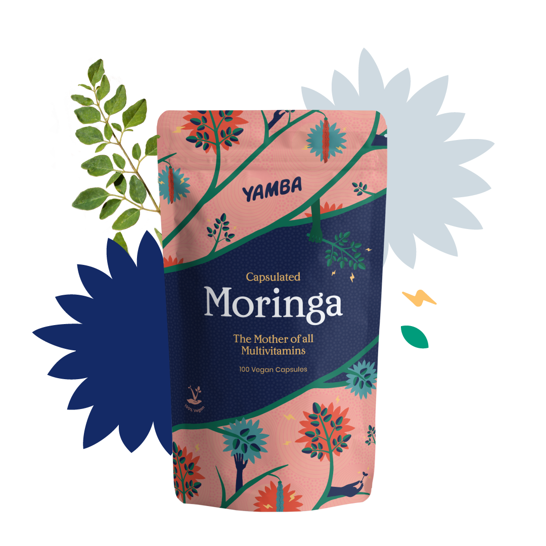 Moringa Vegan Capsules (100) packaging
