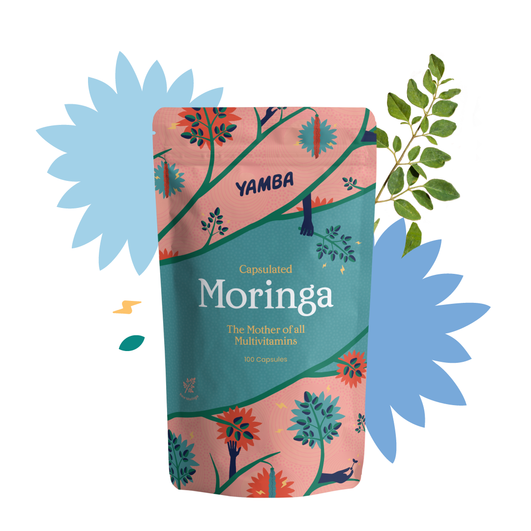 Moringa Capsules - 100 units packaging