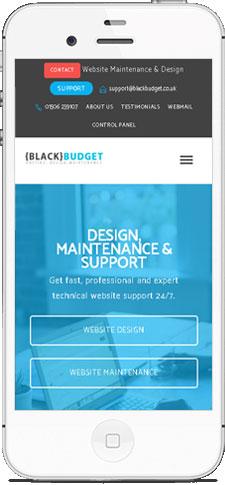 Mobile friendly web design