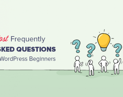 28 Most Frequently Asked Questions by WordPress Beginners